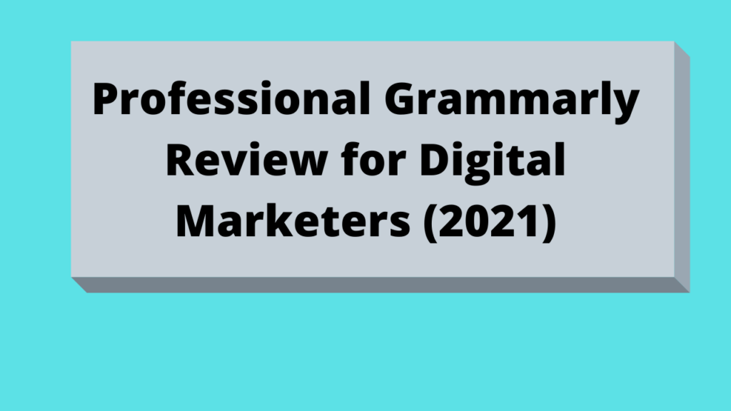 Professional Grammarly Review for Digital Marketers (2021)