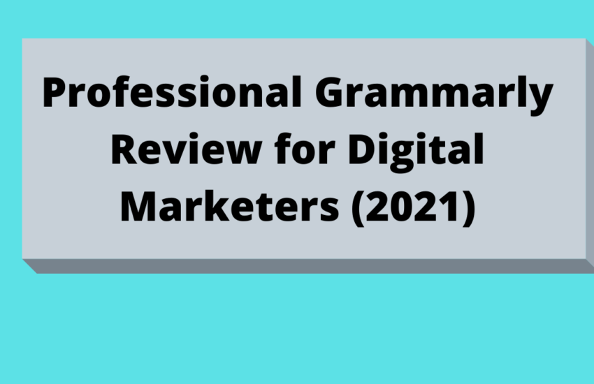 Professional Grammarly Review for Digital Marketers 2021